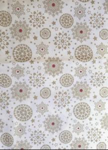 Cotton Gold Snowflakes